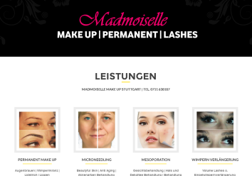Website responsive: Make Up / Beauty